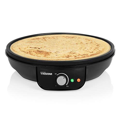 Tristar Piastra per Crepes BP-2637, Waffle e Piadine, 1000 watt, Diametro da 30 cm, Antiaderente