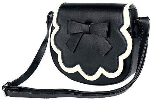 Dancing Days Rocco Frauen Handtasche schwarz/weiß, 100% Polyurethan, Basics, Hochzeit, Rockabilly