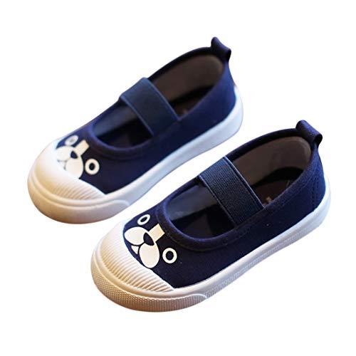 DEBAIJIA Zapatos de Niña 3-10 Años Zapatillas de Deporte Lienzo Dibujos Animados para Casual Dulce Moda Antideslizantes Transpirables Al Aire Libre Estudiantes de Primaria Tendencia Ligera