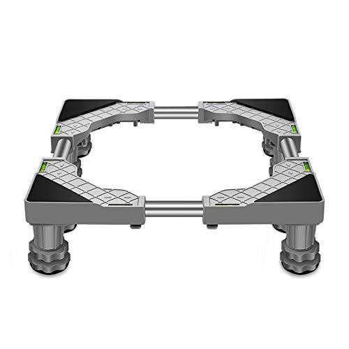 Base Soporte Frigorifico Ajustable Base de lavadora base móvil ajustable base multifuncional, para Lavadora, Frigorífico y Secadora,longitud ajustable 45-65cm(gray)