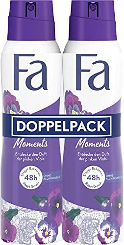 Fa Deospray Luxurious Moments mit dem luxuriösen Duft der pinken Viola, 48h Schutz 2er, 300 ml