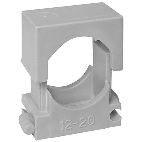 HUP Reihen-Druck-Schelle 12 - 20 mm, grau