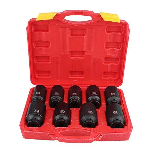 Set di 9 dadi esagonali per mozzo da 1/2' pollici, set di chiavi a bussola esagonali da 29 mm, 30 mm, 31 mm, 32 mm, 34 mm, 35 mm, 36 mm, 38 mm.