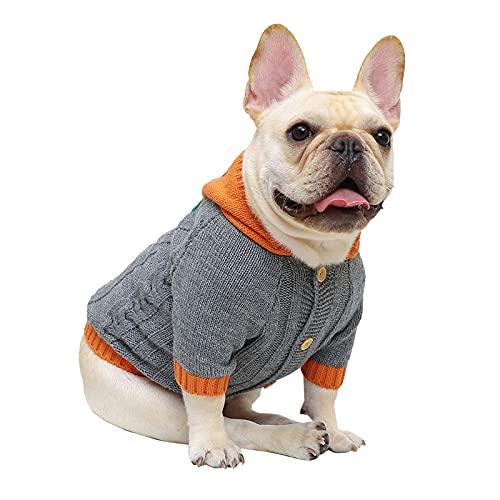 SVTEOKO Dog Sweater Halloween Dog Hooded Sweaters Knitwear Warm Pet Sweater for Fall Winter