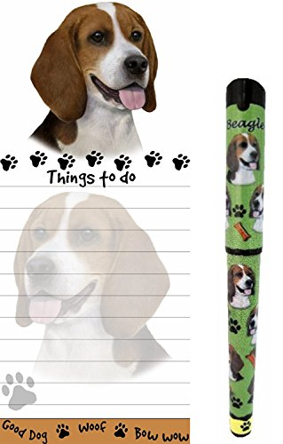 Bulldog Pet Lovers Magnetic To-Do List Pad and Easy Glide Gel Pen