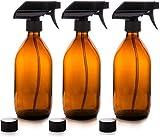 Moligin Botella De Pulverización De La Niebla, Cristal Amber Nist Transport Agua Líquida Botella De Botella Reutilizable para La Belleza De Viaje Cuidado De La Piel Limpieza 500ml