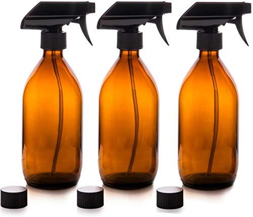 Verver Verre Verre Verre Verre Bouteille Verre Verre Bouteille Ambre Mist Tchigger Liquid Spray Bouteille Réutilisable 500 ML pour Bio Beauty Soins De Nettoyage Produits 2 Pcs