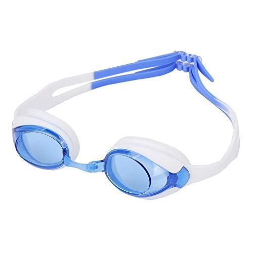 BOLORAMO Gafas de natación para niños, delicadas Gafas de natación Impermeables Gafas de natación polarizadas Gafas de natación Antivaho ultralargas para Amantes de la natación para Nadar(Azul)