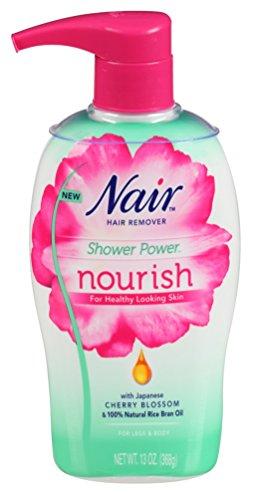 Nair Shower Power Nourish Japanese Cherry Blossom with sponge, 13 Ounce