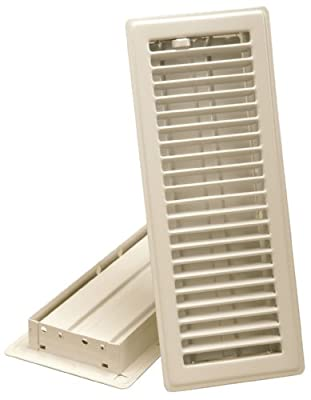 Imperial Manufacturing RG0244 4-Inch by 10-Inch Louvered Floor Register, Almond