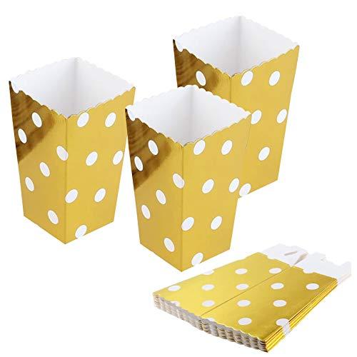 ytorgr 12PCS Scatole per Popcorn, Sacchetti di Popcorn, Scatola per Popcorn, può Essere Utilizzato per Spuntini del Partito Dolci Popcorn e Regali