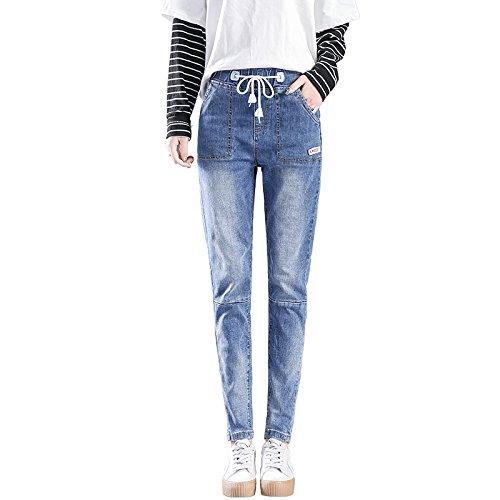 Olici MDRW-Baggy Jeans en Baggy Broek Studenten In de herfst en winter strakke taille Haren Broek