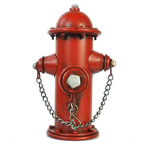 LUCKFY Feuer Hydrant Münzbank - Metall Geld Jar - Vintage Feuer Hydrant Replica Münze Bank Tisch Tischkulptur für Kinder Jungen Mädchen Dekoration