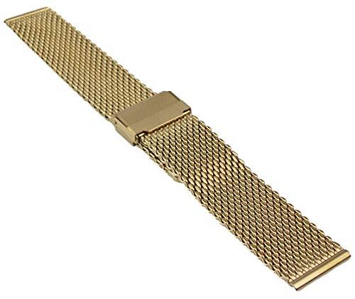 Milanaise Edelstahl Uhrenarmband Metallband 18-24mm Mesh Armband Uhr Band 22mm Gold