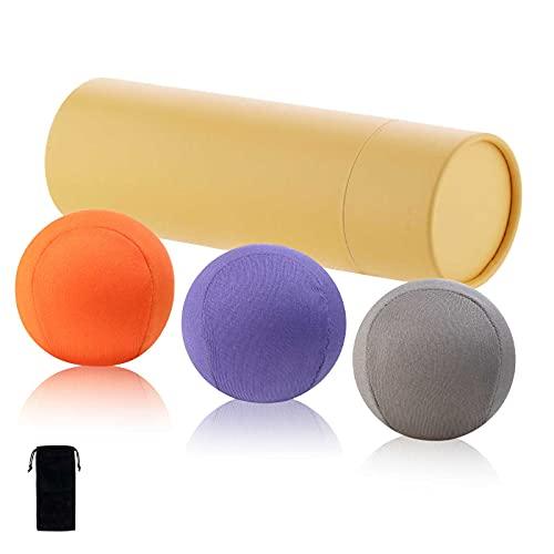 Stressball 3er-Set, Antistressball mit Aufbewahrungstasche, Handtrainer und Fingertrainer mit unterschiedlichen Härtegrade, Knetball, Fingergymnastik Ball, Hände Therapeutische, Stressbewältigung
