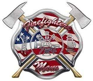 Firefighter Religious Cross Axes Decal Sticker FD Fireman Car Window Laptop