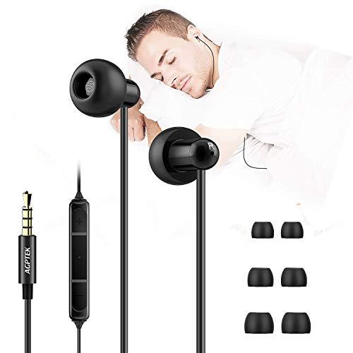 Schlaf Kopfhörer, AGPTEK In Ear Kopfhörer, Ultra Soft Komfortable Schlafende Kopfhörer Ohrstöpsel