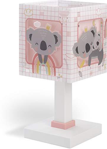 Dalber Koala Lámpara Infantil Mesilla, 40 W, Rosa