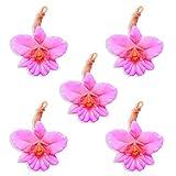 LABOTE Handgemachte thailändische Bio Naturseife Orchidee pink mit typischem Duft, 5 Stück, 100 g