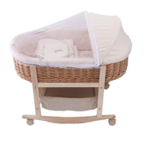 New YXGH@ Baby Moses Basket Cradle Baby Basket Portable Car Shopping Basket Rattan Wicker Basket Han...