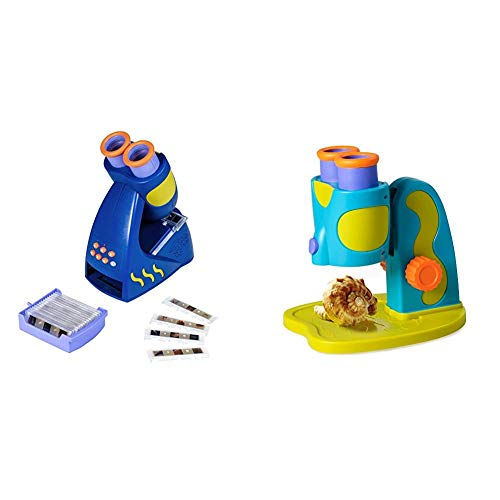 Educational Insights Geosafari Jr. Talking Microscope, Brown Box Packaging & GeoSafari Jr. My First Microscope, Extra-Large Dual Eyepieces, Preschool STEM Toy, Ages 3+