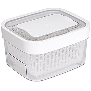 OXO Good Grips Greensaver Produce Keeper, 1.6 quart, White/Clear
