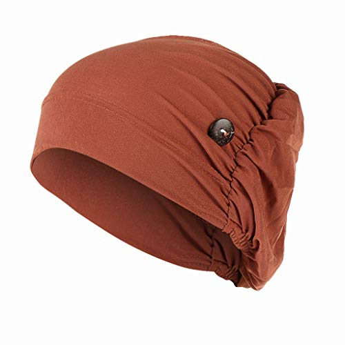 SADUORHAPPY Headbands Hat with Buttons Hat Cover Holder Wearing Protect Ears Head Wrap Hat Hair Bands Reducing Ear Pain