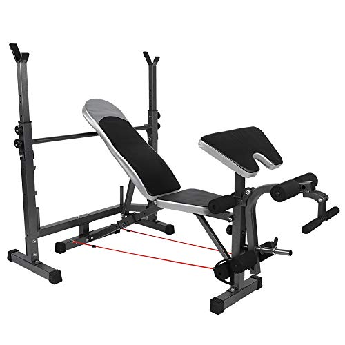 Lowest Prices! East buy Weight Bench, Multi-Functional Adjustable Weight Bench, Squat Rack Press Lif...