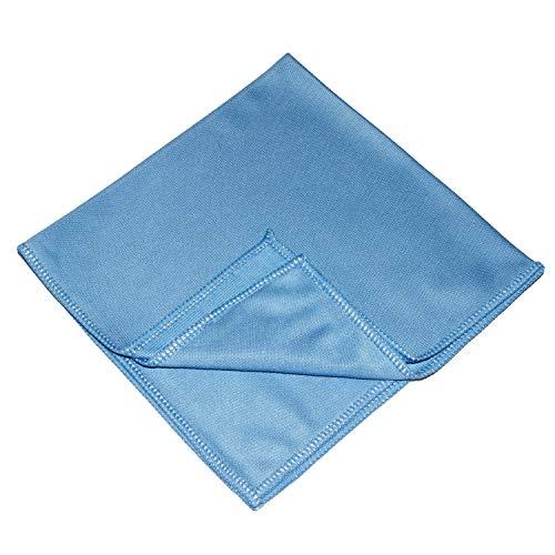 Sonty 10 Stück Fenstertuch Profi, Microfasertuch 38 x 38 cm in blau (10)