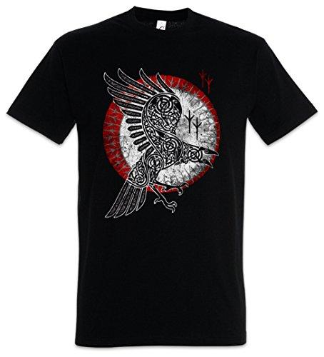 Urban Backwoods Norse Raven Herren T-Shirt Schwarz Größe XL