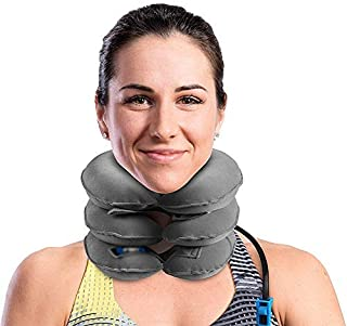 Cervical Neck Traction Device Inflatable And Adjustable Neck Stretcher Collar, Instant Pain Relief for Chronic Neck And Sh...