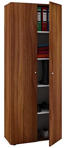 VCM Mehrzweckschrank Dielenschrank Vandol | Auswahlmöglichkeiten: +Schublade / +Aufsatz Höhe 178 cm: Kern-Nussbaum