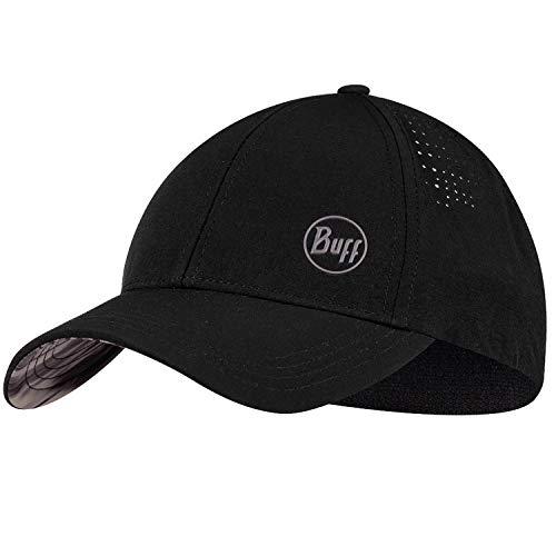 Buff Trek Cap Baseball Cap + Ultrapower Schlauchtuch | Damen | Herren | Wanderhut | Mütze | Kopfbedeckung | Inneres Schweißband | UV-Schutz (Ikut Black L/XL - 122583.999.30.00)