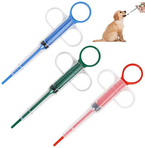 MH MHwan Alimentador de medicamentos para Mascotas, Alimentador de píldoras para Mascotas, Alimentador de medicamentos Jeringas con Punta de Silicona para Mascotas para Alimentar Agua, Medicin