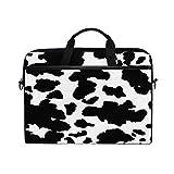 XMCL Animal Cow Print Laptop Case Shoulder Bag Computer Notebook Briefcase Messenger Bag with Adjustable Shoulder Strap Fits 14-14.5 inch