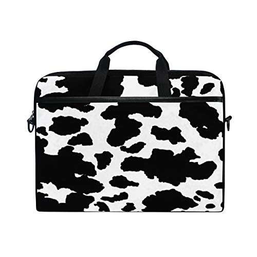 XMCL Animal Cow Print Laptop Case Shoulder Bag Computer Notebook Briefcase Messenger Bag with Adjustable Shoulder Strap Fits 14-15.4 inch