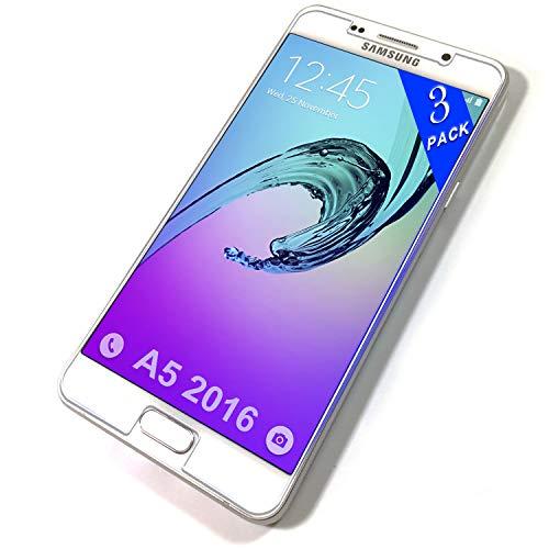 Le Destin Galaxy A5 2016 Panzerglas,[Anti-Kratzen][Blasenfrei],3 Stück Bildschirmschutzfolie Schutzfolie für Samsung Galaxy A5 2016