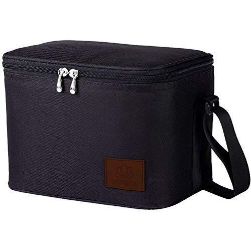 Umami Lunch Bag Isotherme   Sac Repas Portable   Glacière Souple 6L Grande Capacité   Convient Aux Adultes comme Aux Enfants   Noir