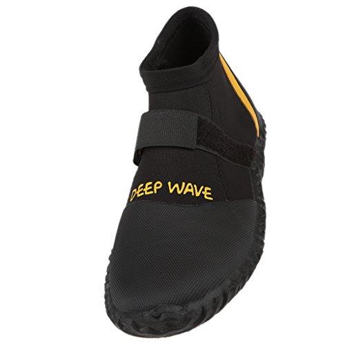 MagiDeal Chaussons De Plongée Chaussures Idéal Pour Sport Nautique Surf Anti-dérapante - Noir, 10
