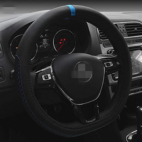 HONCENMAX D Typ Fahrzeug Lenkradabdeckung Auto Lenkradschutz D-Form [Flacher Boden] Durchmesser 38cm (15