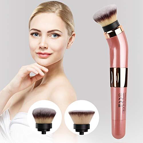 LZDseller01 Elektrischer rotierender Make-up-Pinsel, 360 ° drehbarer automatischer Kosmetikpinsel,...