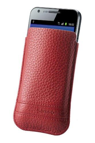 Samsonite Slim Classic Leather - fundas para teléfonos móviles (8,1 cm, 1,1 cm, 13,2 cm) Rojo