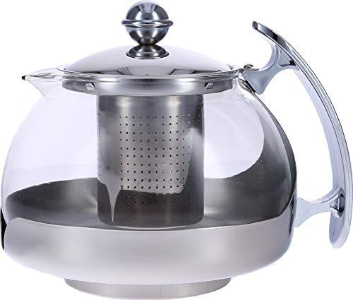 Haushalt International Teekanne aus Glas mit Teefilter aus Edelstahl für 1,2 Liter