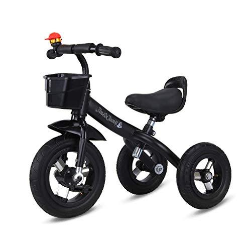 WENJIE Regalo de cumpleaños Rojo portátil de 2 años de Edad, a los niños Varones de triciclos y Bicicletas niñas Equilibrio del vehículo bebé de 1 año de Edad del bebé Bicicleta de Tres Ruedas