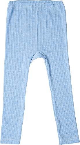 Cosilana Naturwäsche Cosilana, Kinder Leggings/Lange Unterhose, 45% KBA Baumwolle, 35% kbT Wolle, 20% Seide (116, Blau Meliert)