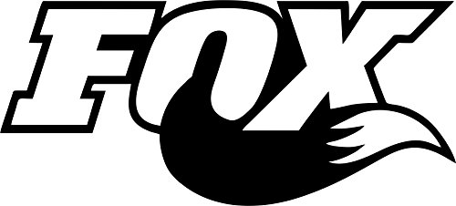 Fox Tail Decal Sticker Racing for Cars and Walls 5 Inch Black