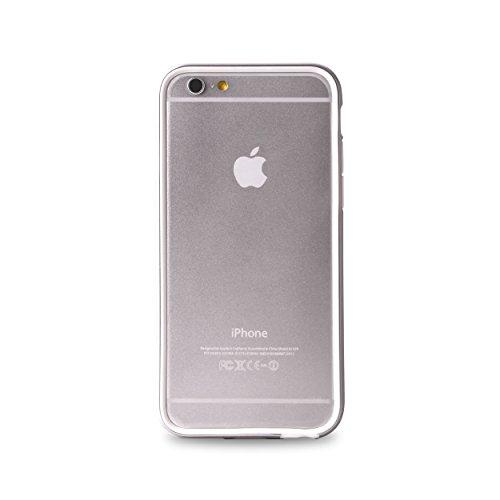 Cover Bumper Italian Indipendent Custodia per iPhone 6 Plus/6s Plus, Argento