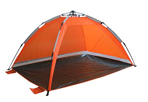 Strandmuschel Orange Strandzelt mit Schirmsystem Polyester blitzschneller Aufbau Wetter- und Sichtschutz Duhome 5071
