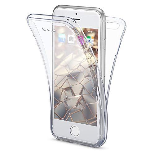 NALIA 360 Grad Hülle kompatibel mit iPhone SE 2020/8 / 7, Full-Body Silikon Handyhülle R&um Cover Hülle, Ultra-Slim Schutzhülle Handy-Tasche, Phone Komplett-Schutz und Bildschirmschutz - Transparent