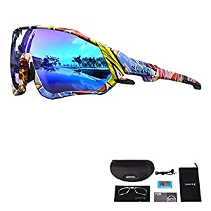 KAPVOE Polarized Cycling Glasses TR90 for Women Men Running Sports Sunglasses MTB Bike Bicycle Accessories